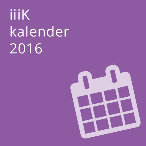 iiiK Kalender 2016